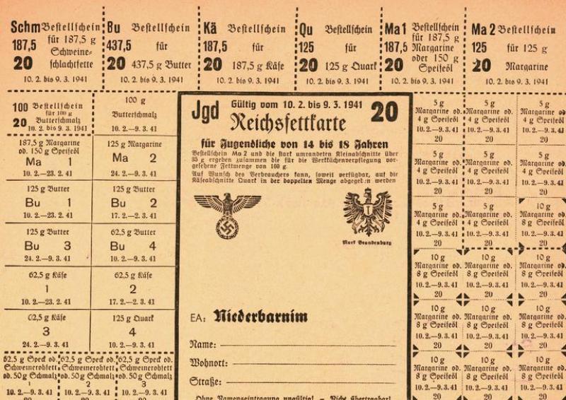 Reichsfettkarte