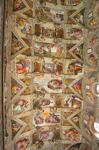 Michelangelo, Ceiling of Sistine Chapel, Vatican, Rome, Italy