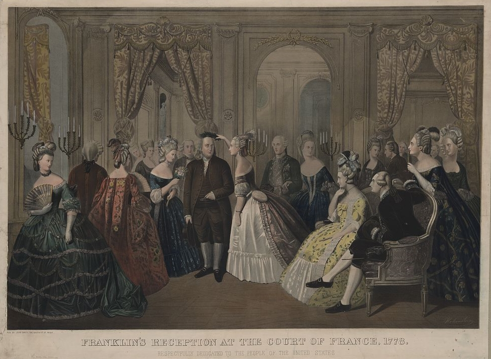 """""""Benjamin Franklin's reception at the cou..."""