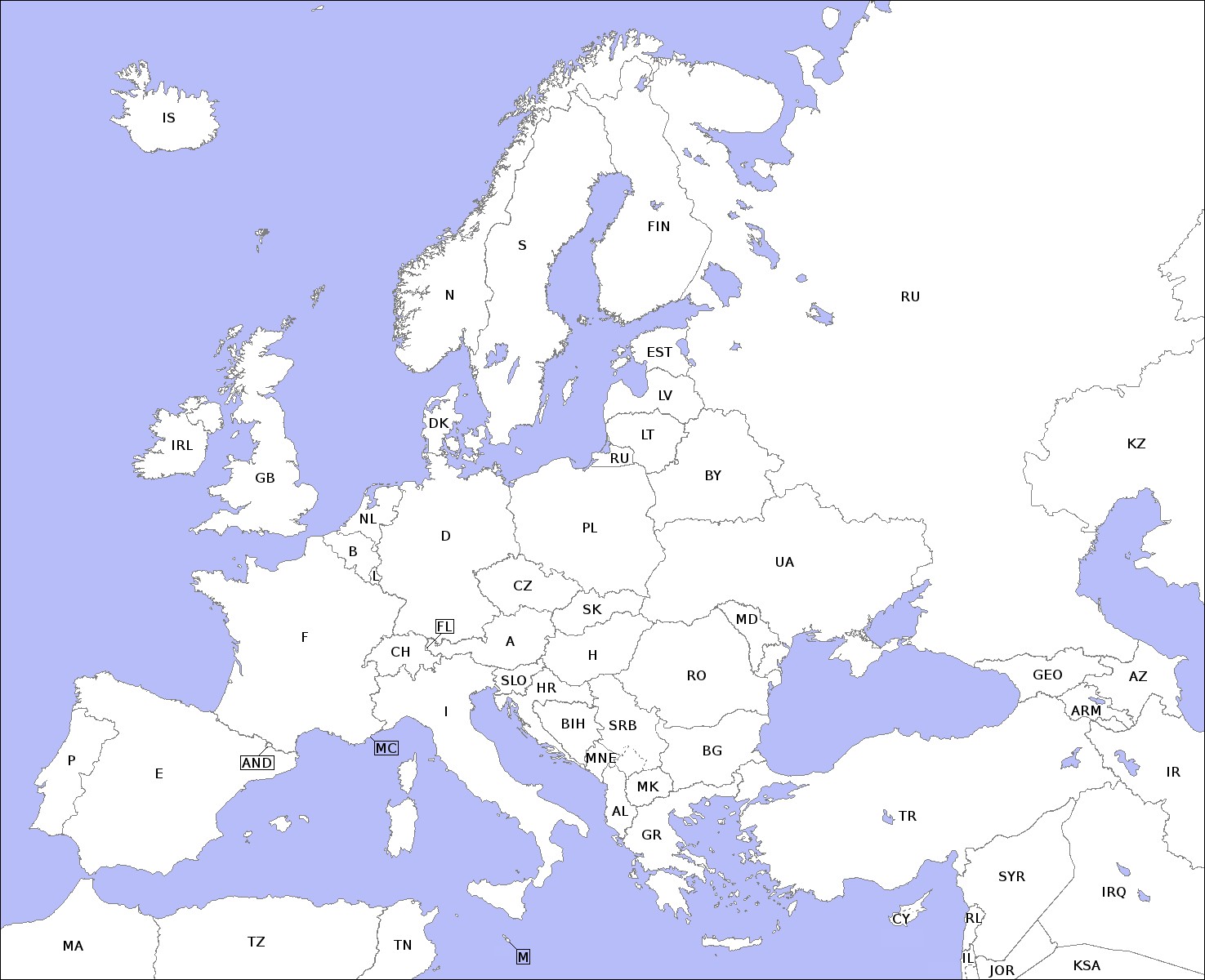 File Europe Countries Map Contours