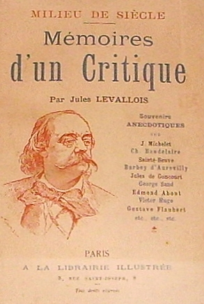 Mémoires d'un critique (1896) by French writer...