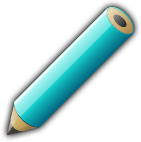 English: Aquamarine pencil