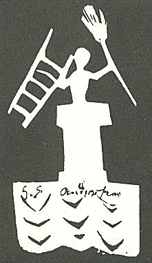 Paper silhouette of a chimney sweep by Hans Ch...