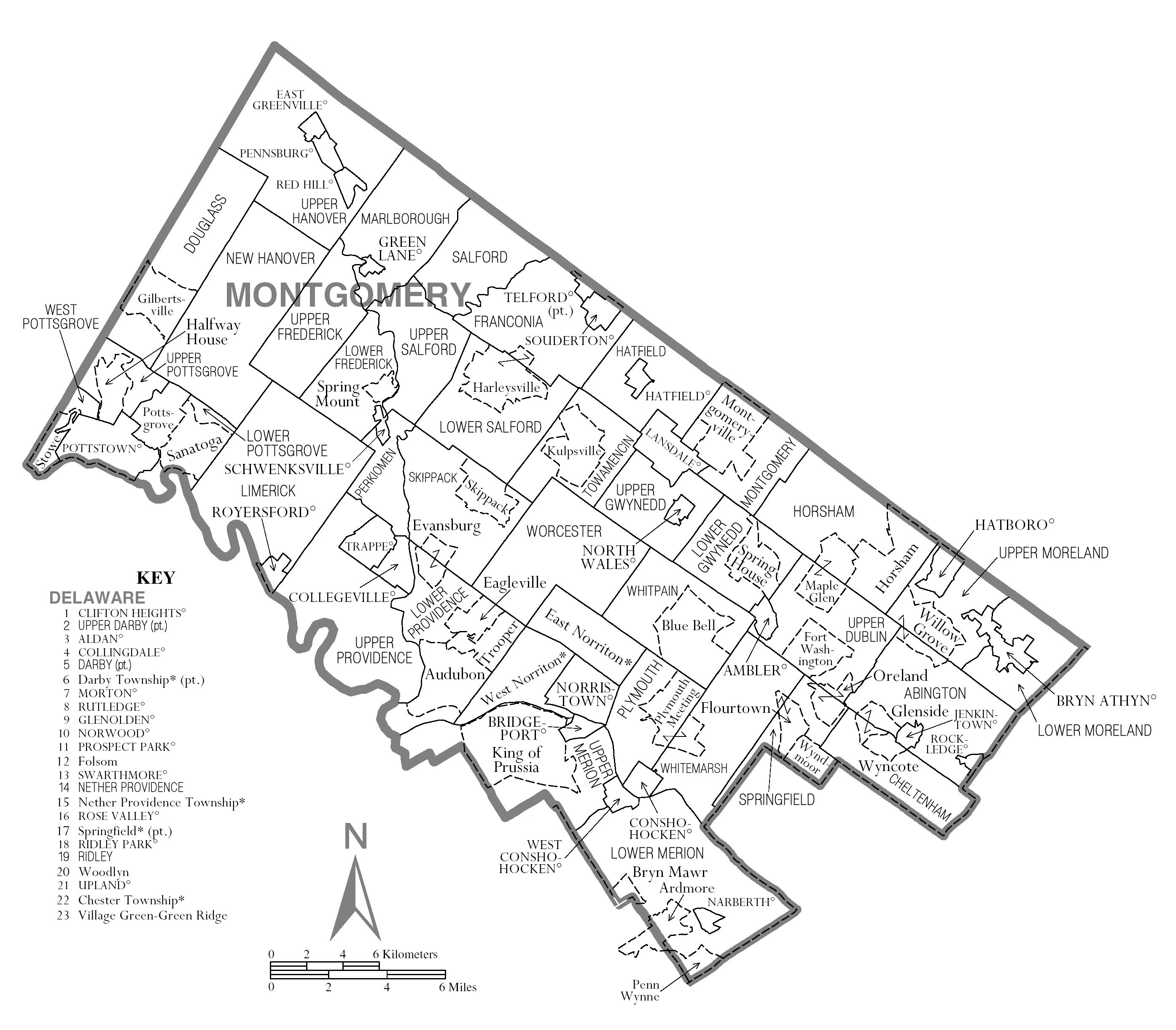 Montgomery County Pa Zip Code Map