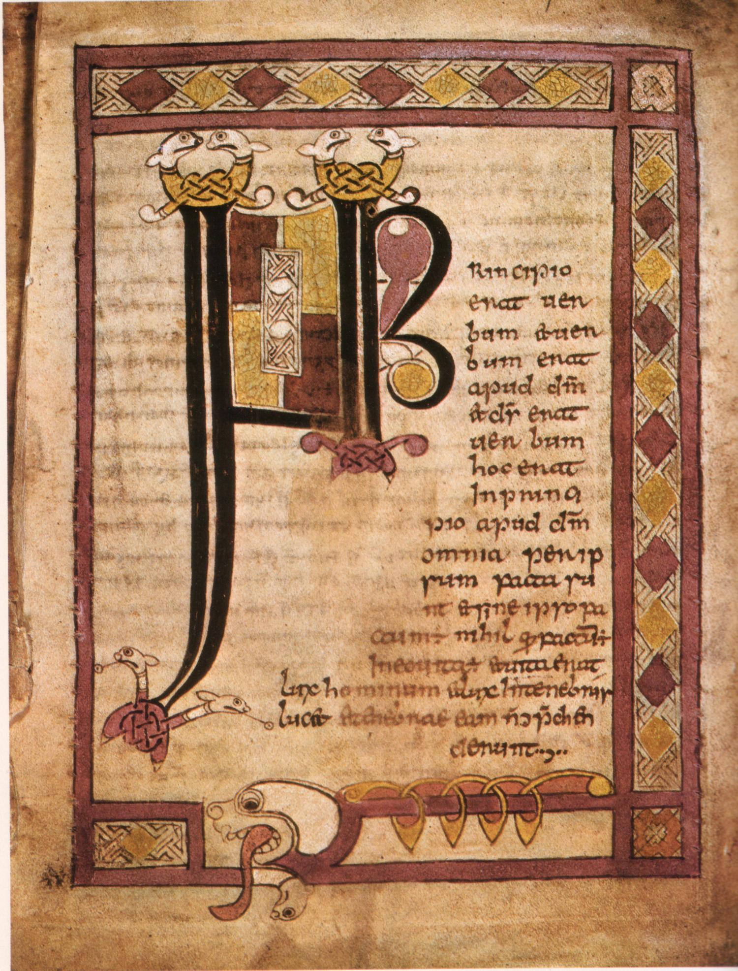 Stowe Missal inital page