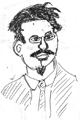 Sketch of Leon Trotsky.