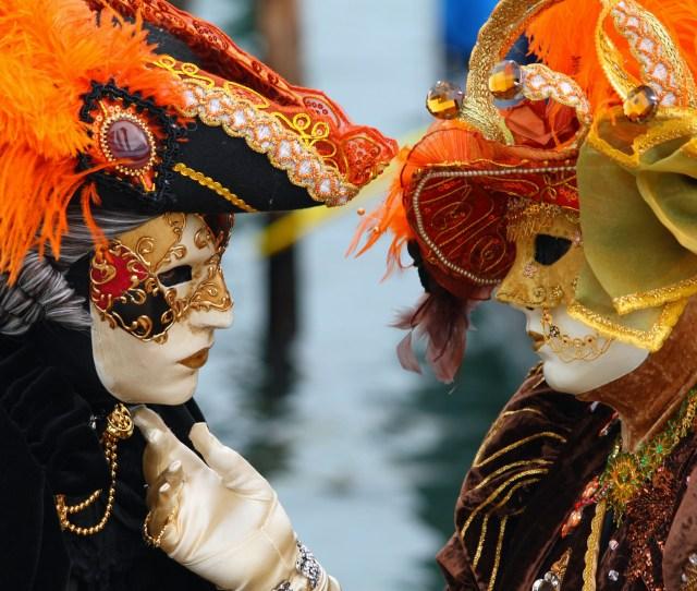 Venice Carnival Masked Lovers 2010 Jpg