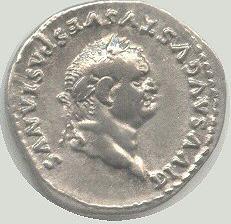Վեսպասիանոսի պատկերը դրամի վրա