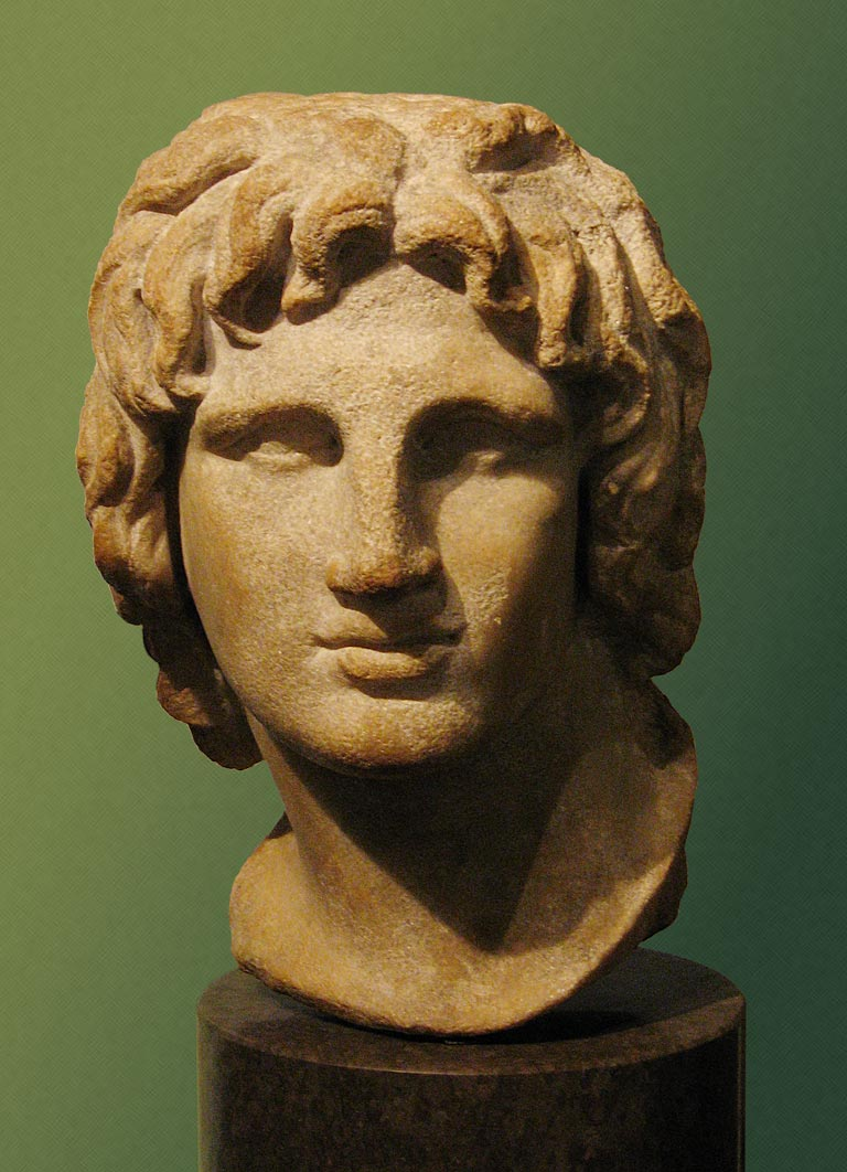 Bust of a young Alexander the Great from the Hellenistic era, British Museum.