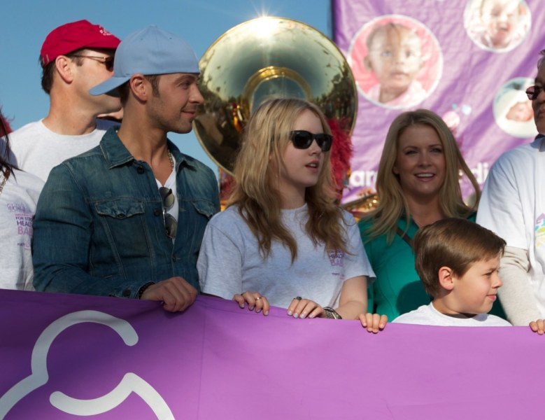 Melissa Joan Hart   Wikipedia Hart participates in a March of Dimes event with her Melissa   Joey  co stars Joey Lawrence and Taylor Spreitler