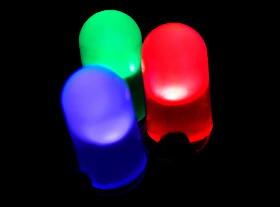 R, G, and B LEDs.