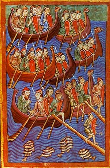 Danish seamen, painted mid-twelfth century. Th...