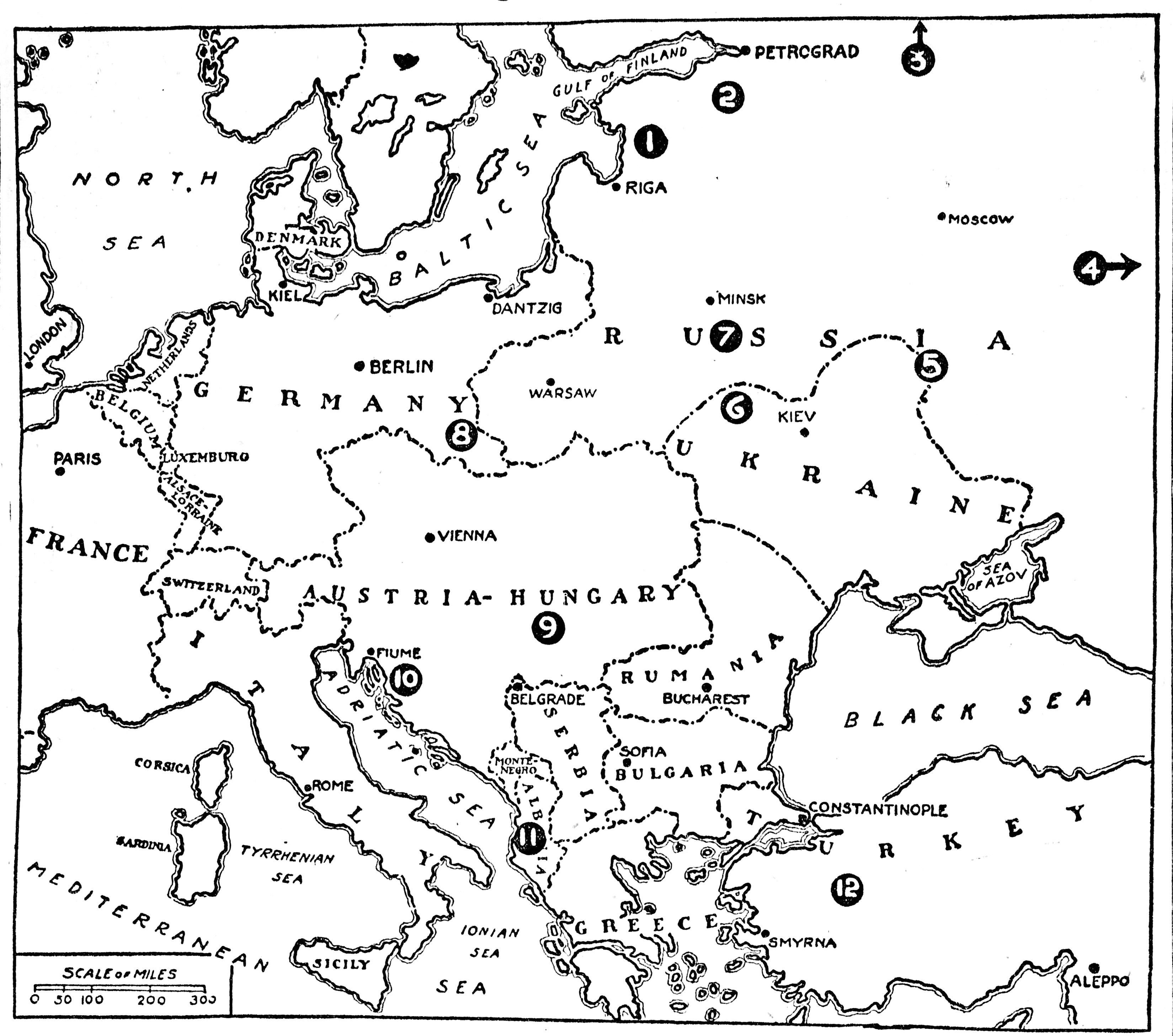 Printable Blank Map Of Europe Pre Ww1