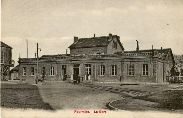 Le bâtiment voyageurs vers 1900