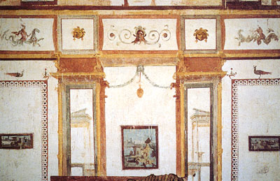 A fresco within the villa