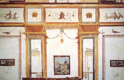 A fresco within the villa