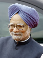 English: Manmohan Singh, current prime ministe...
