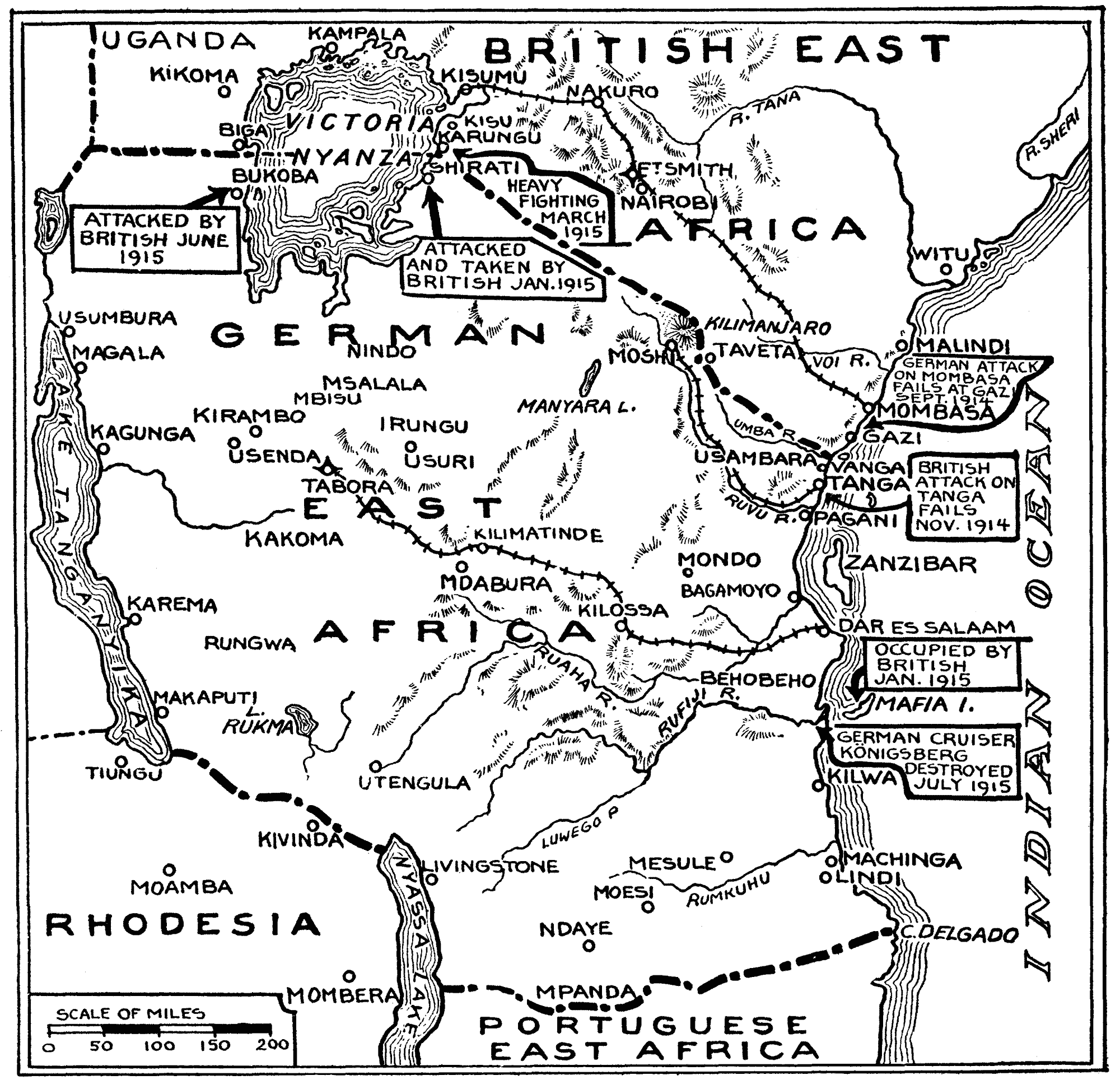 File East Africa Wwi As At August