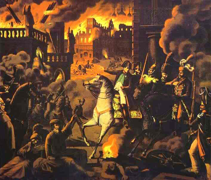 The fire of Moscow (September 1812).