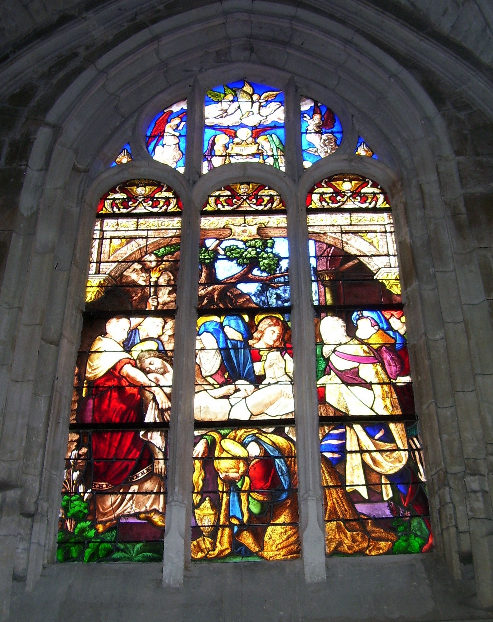 stained-glass windows, kirchenfenster, vitrail