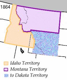 The Idaho Territory in 1863. © 2004 Matthew Tr...
