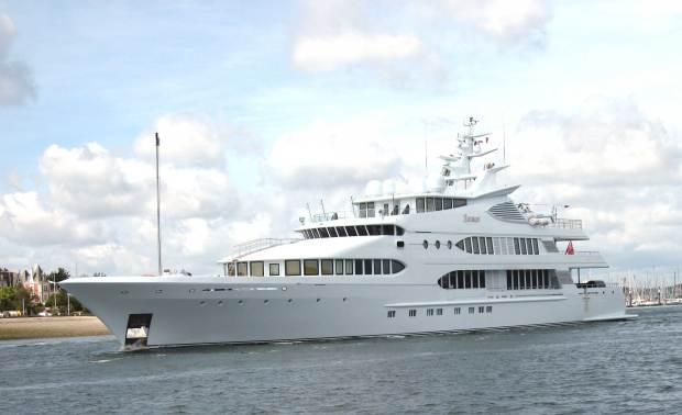 A fancy modern yacht