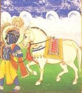 Vishnu as the incarnation Kalki