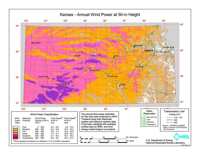 Texas Wind Power Map Wind - Us wind energy map