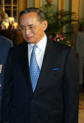 BANGKOK. Thai King Bhumibol Adulyadej.