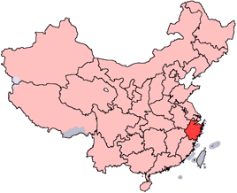 Prowincja Zhejiang, z której pochodzi herbata Longjing [wikipedia]