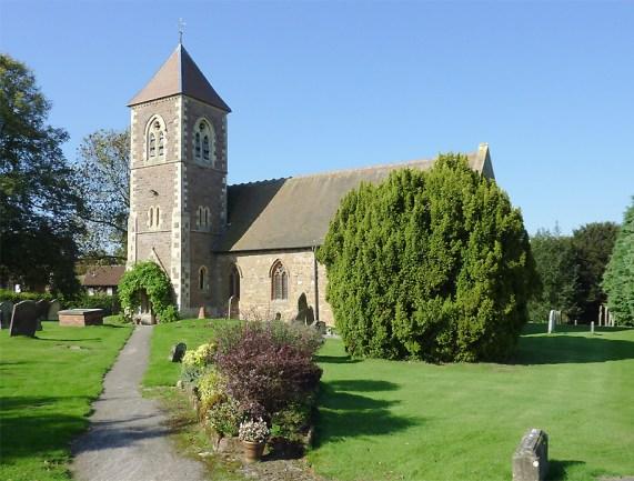 Holy Cross Church at Bobbington, Staffordshire