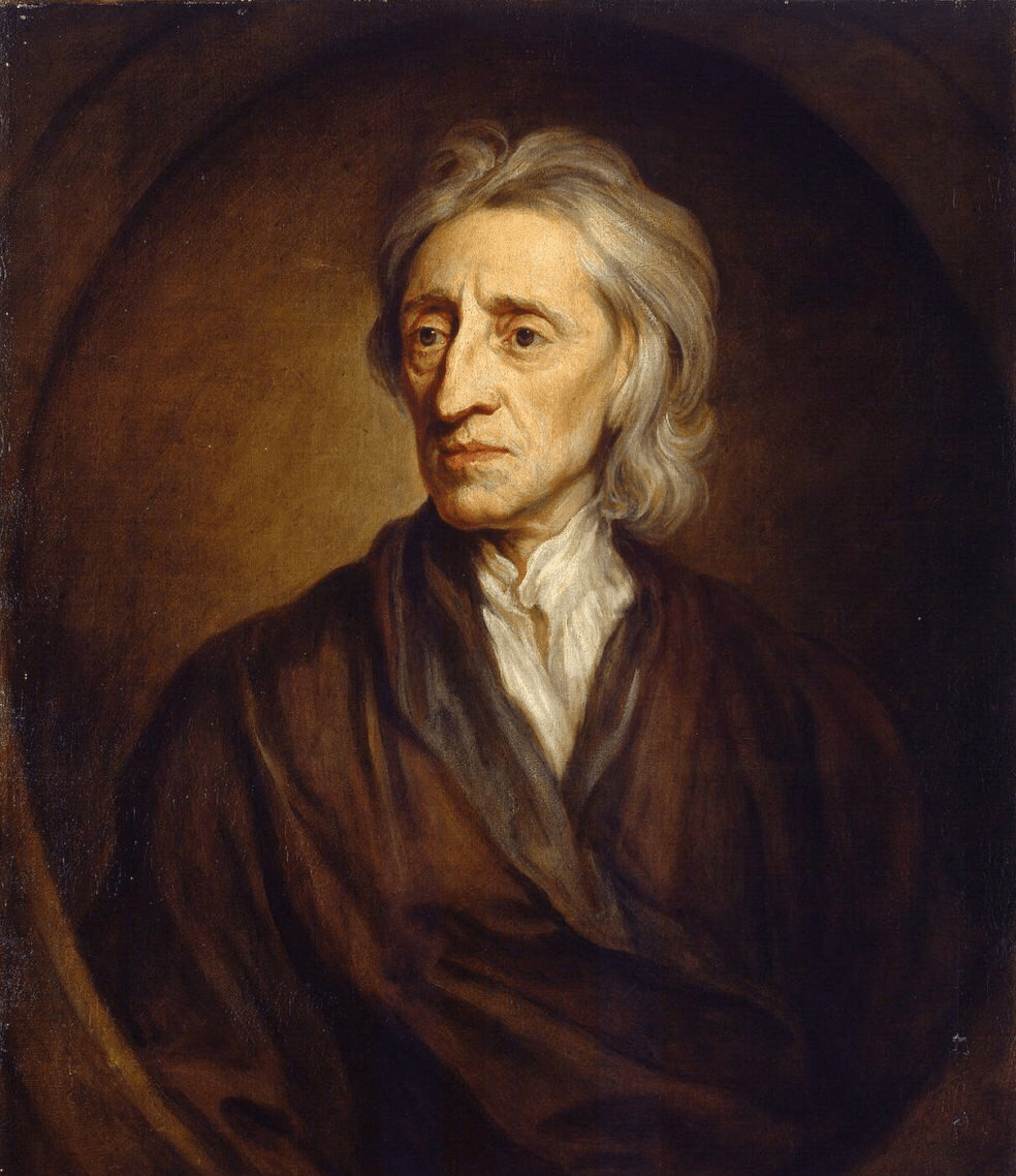 John Locke (1632-1704), the founder of the ideology of the Enlightenment. Portrait of John Locke, by Sir Godfrey Kneller.