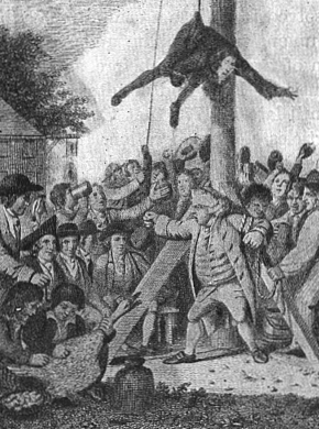 Mobbing the Tories by American Patriots in 177...