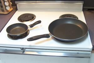 Large and small skillets