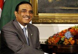 President Asif Ali Zardari of Pakistan, Tuesda...