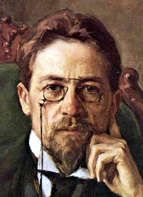 Anton Pavlovich Chekhov. Oil on canvas. From t...