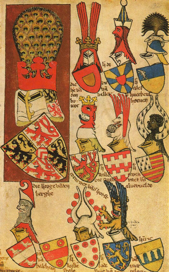 Folio 92r De L Armorial De Gelre Wikimedia Commons