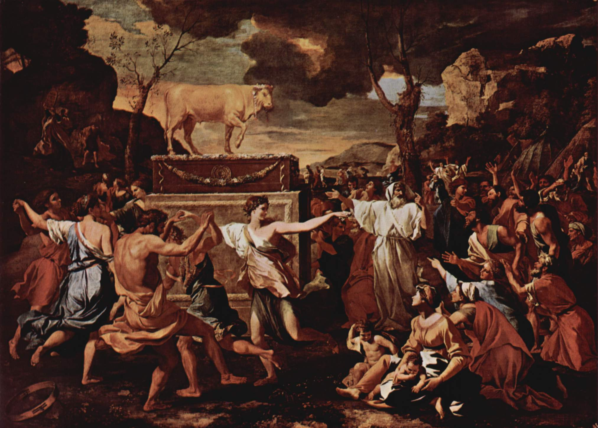 File:Nicolas Poussin - The Adoration of the Golden Calf alt.jpg