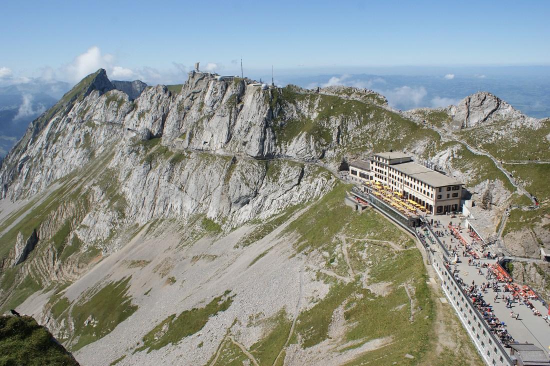 Luftaufnahme Pilatus Kulm, Zentralschweiz