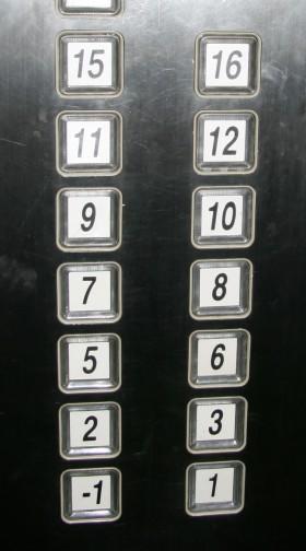 Lift apertement di shanghai gak ada lantai 4,13,14 bahkan ada lantai negatif
