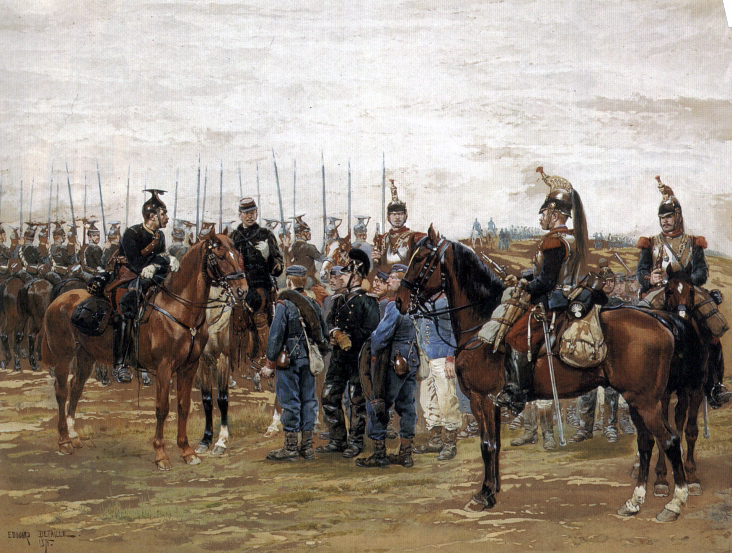 File:Detaille - A French Cavalry Officer Guarding Captured Bavarian Soldiers.jpg