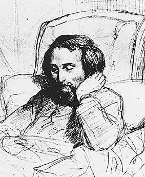 Heinrich Heine, teckning av Charles Gleyre (18...