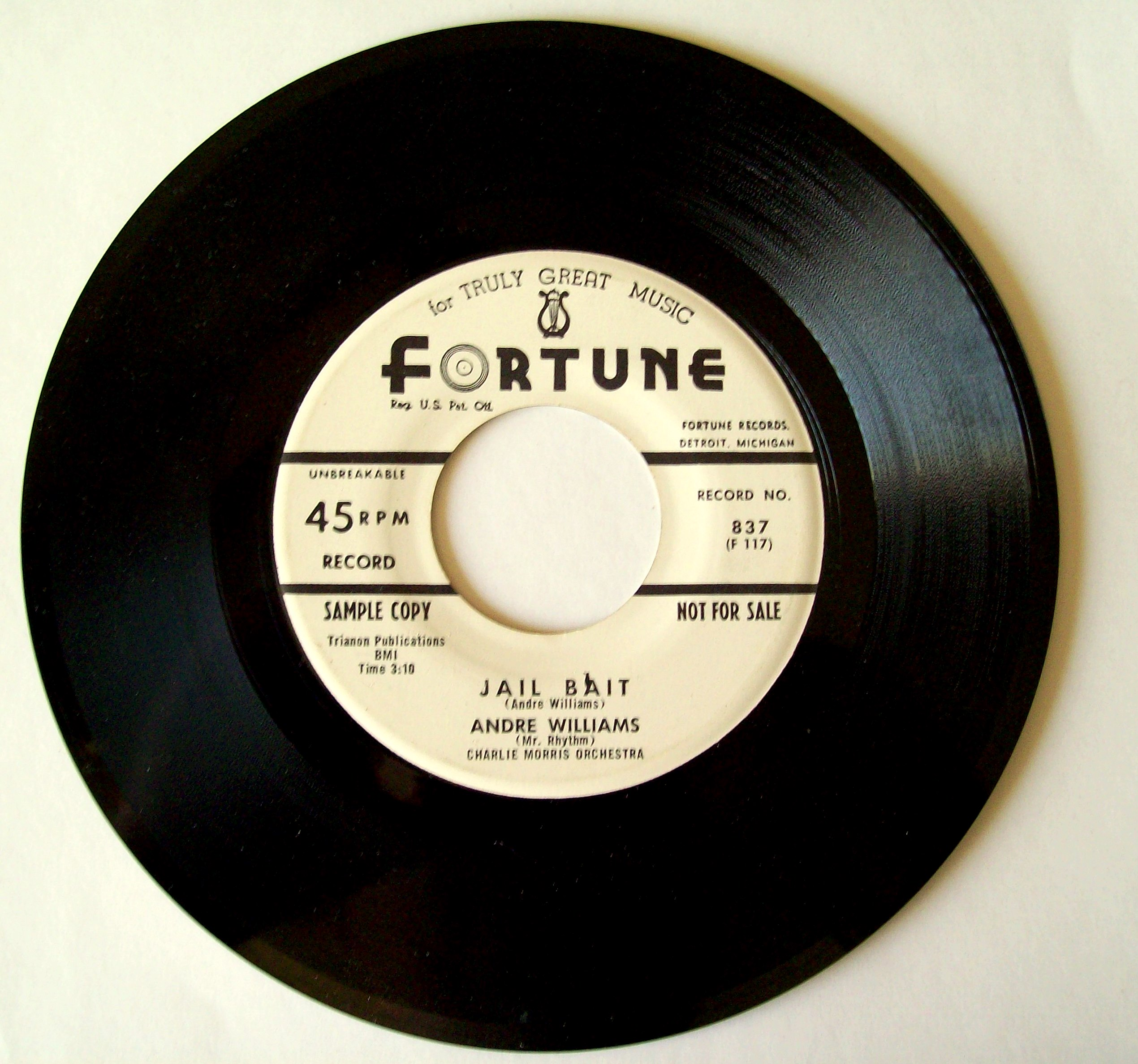 FileJAILBAIT Andre Williams On Fortune Records Detroit