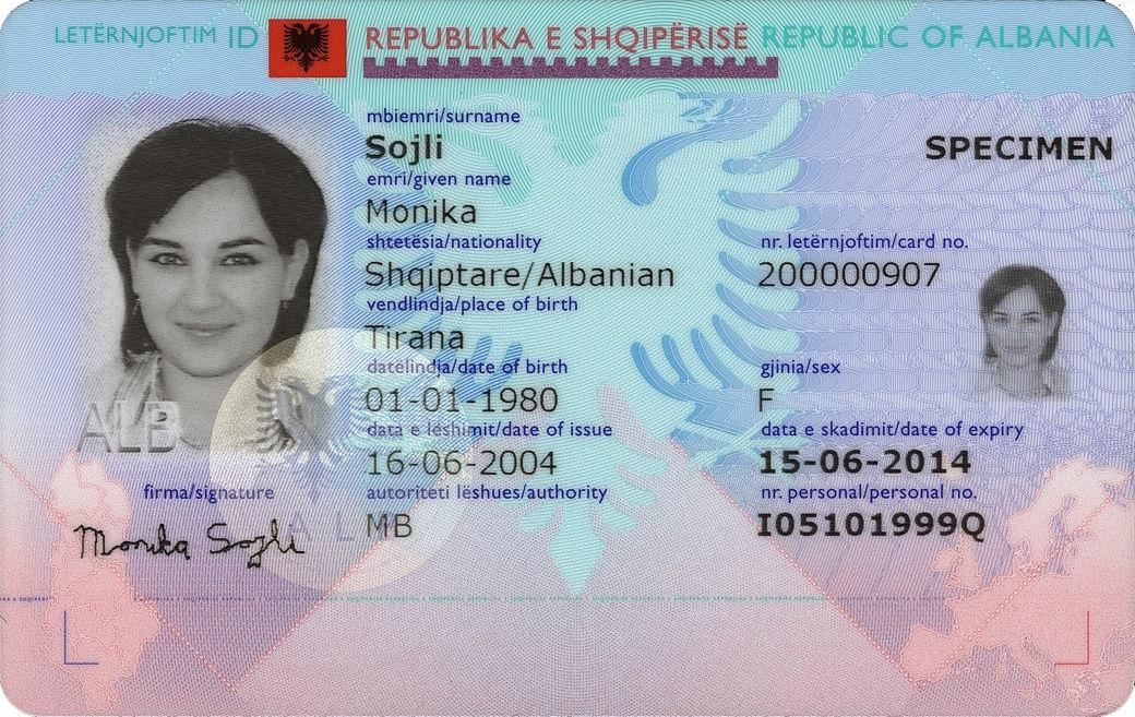 Carta Didentità Albanese Wikipedia