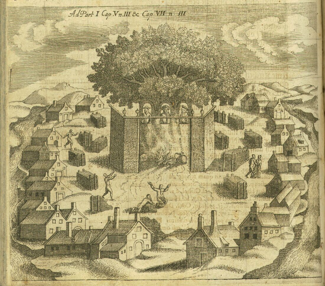 Ancient Romuva, by the Prussian historian Christophorus Hartknoch (1644-1687), 1684, Public Domain