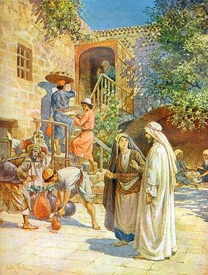 English: The Wedding at Cana (watercolour)