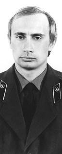 Vladimir Putin in KGB uniform