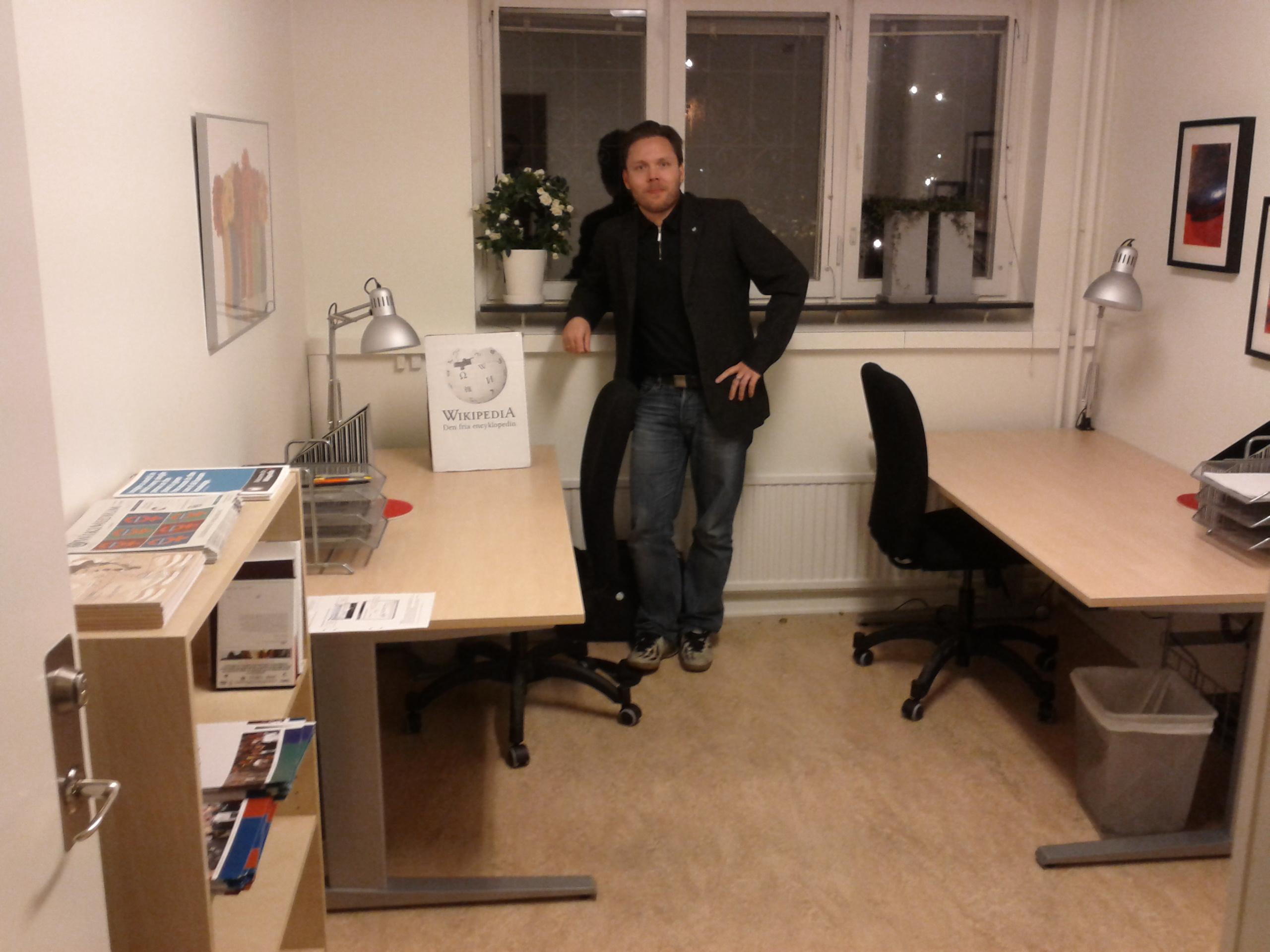 Jan Ainali på Wikimedia Sveriges kontor