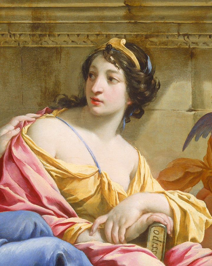 Detail of painting The Muses Urania and Callio...