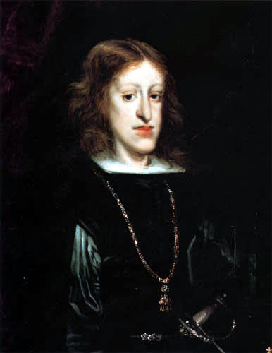 King Charles II of Spain, (1661-1700) by Don Juan Carreño de Miranda.